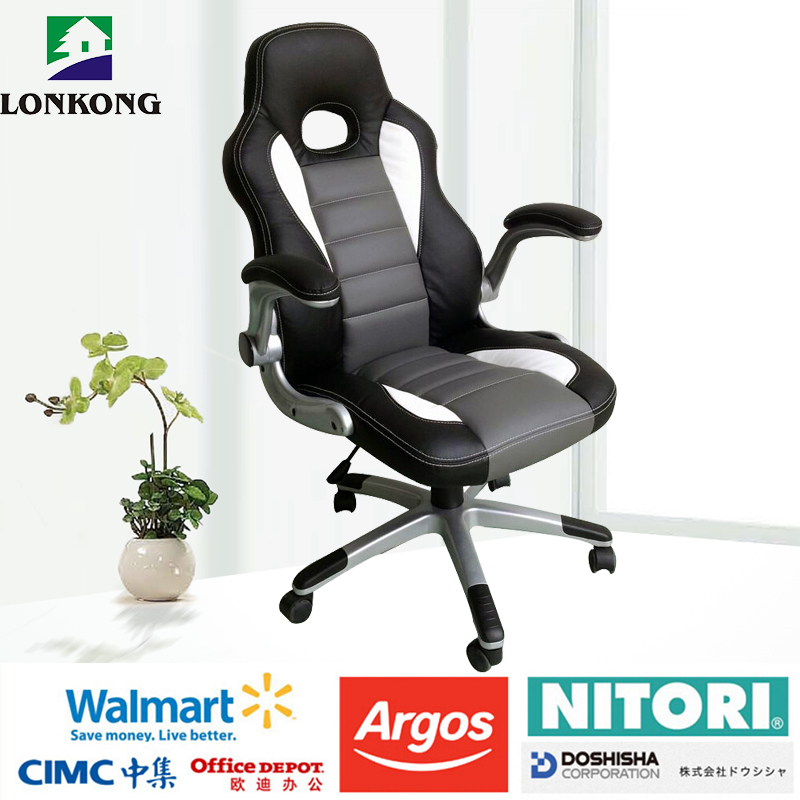 Ergonomic design racing style office chair/gaming office chair racing