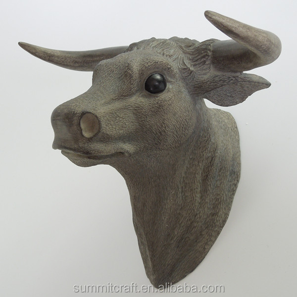 Wall mounted animal head resin decorative wall bull head sculpture