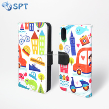 double side sublimation printed leather phone case for Iphone x