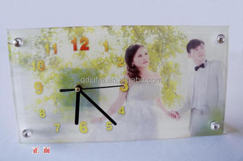 custom Rectangular crystal photo frame for sublimation printing