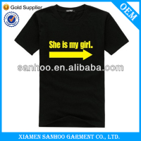 Full Cotton Family Couple T Shirt OEM Wholesale Cheap Good Quality