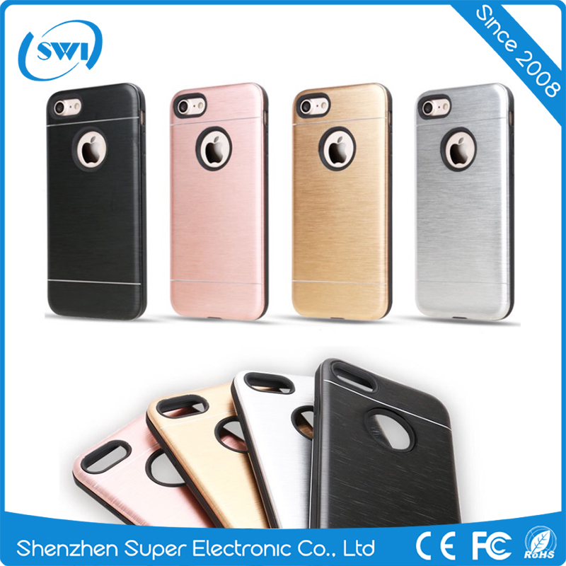 Aluminium Metal Material Back Cover with 360 Rotating Ring Holder Hard Shell Ultra-Thin Cell Phone Case for iphone 6