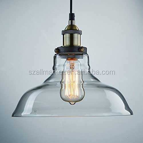 Wholesale glass lamp shade with electrical fitting AMN1592