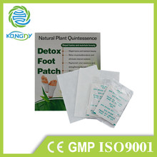 OEM approved 100% detox herbal and competitive price cleansing detox foot pad