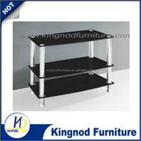 2015 italian design modern Best price tempered glass stainless steel leg TV stand for living room furniture