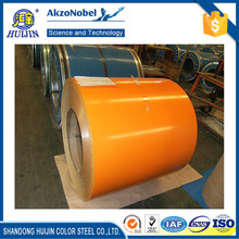 Huijin professioanl color coated steel coil for roofing sheet