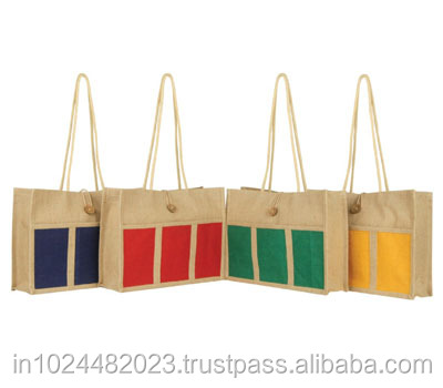 JUTE COLORED handbags on sale