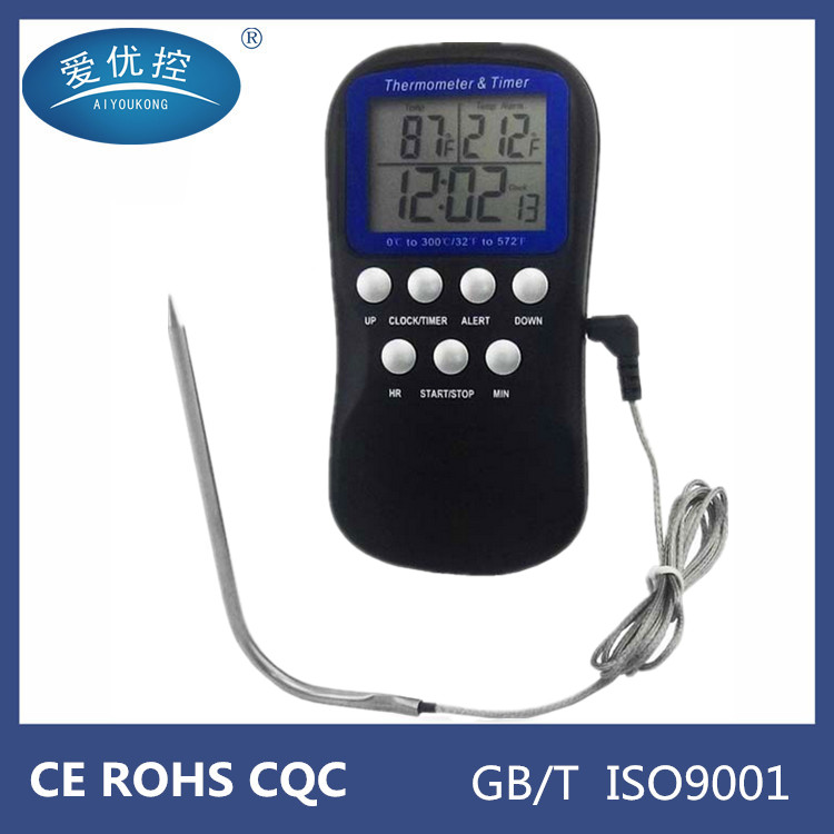 <strong>Manufacturers</strong> wholesale kitchen barbecue probe alarm baking/ boil sugar food display electronic thermometer