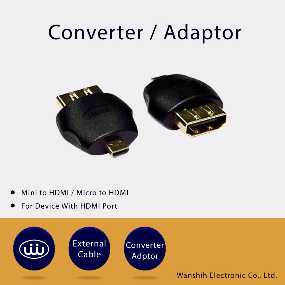 Listed Company Mini Hdmi Converter Adaptor With Hdmi Port