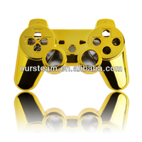 Chrome golden housing shell for ps3 controller sample order accepted
