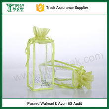 PVC and mesh material gifts bag with drawstring bag