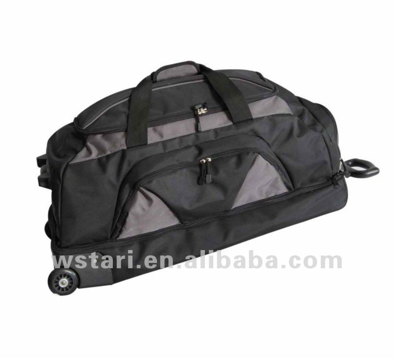 Hot Sale 1680D multi Color Athletic Sport Duffle Bag Travel Bag, Canton fair wheelie duffel bag