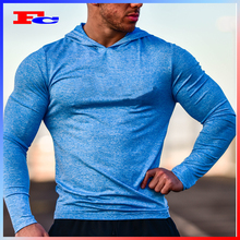 OEM Gym Wear Manufacturer TAPERED CUT Slim Fit Long Sleeve Tshirt Custom Cooling Gym Clothing