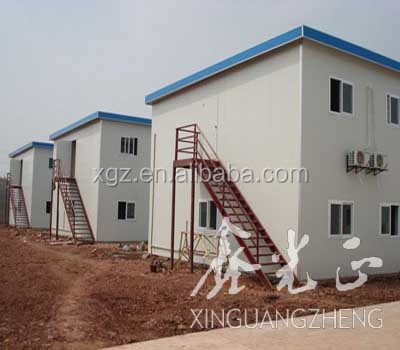 Fast assembly Prefab two-storeys temporary labor house/military house/refugees house