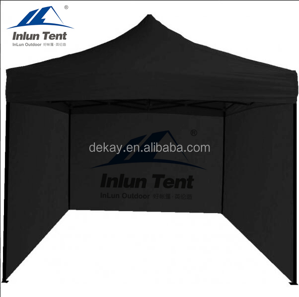 3x3 Hot sale black quick folding tent gazebo outdoor tent with side walls