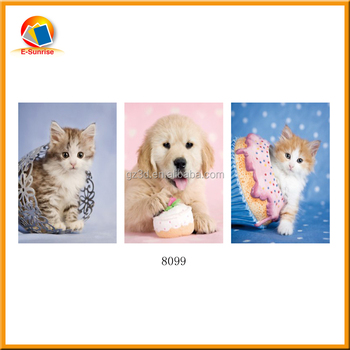 Dog changing flip 3d lenticular pictures