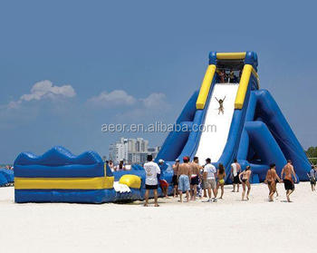 Good factory price hippo inflatable water slide for adult/beach inflatable waterslide for sale