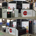 Detian offer fashion trade show booth portable exhibition booth design with cheap price
