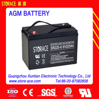 AGM rechargeable battery 6v 225ah dry battery