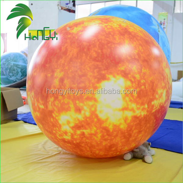 Large Promotional Display Inflatable Galaxy Flying Sun Inflatable Balloon