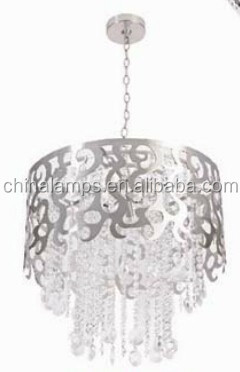 modern kitchen designs dubai metal and white crystal pendant light with E27 for home decor