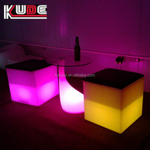 led cube stool led bar furniture , lighted stool for night club