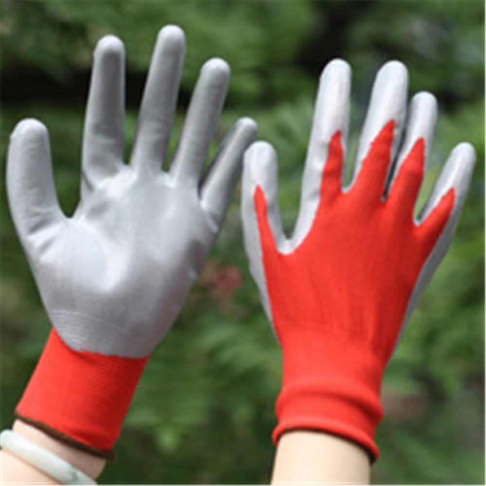 MHR color print nitrile working gloves manufacturers/made in China