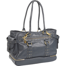 2014 high quality studed yummy mummy fashion genuine leather adult baby mother diaper bag RO4277