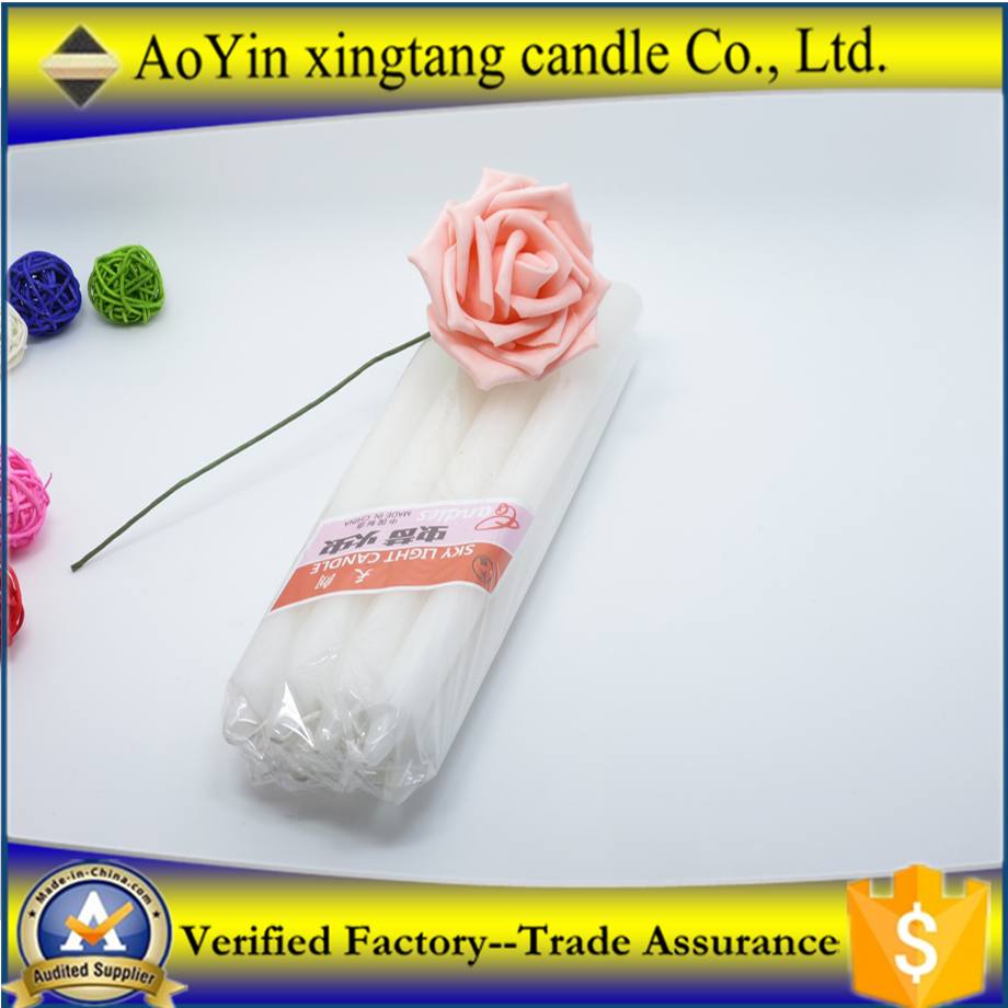 Good quality mini acrylic non drip taper candles