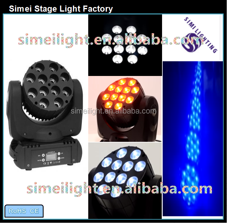 Reliable quality 12*10w 4 in1 led mini beam wash moving head/ RGBW moving beam light