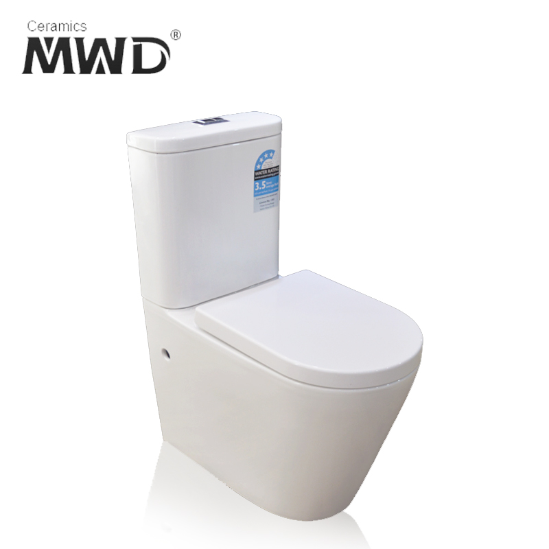 new design wall drain siphonic flushing two piece wc toilet bathroom equipment