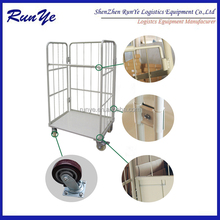 Wire Mesh Containers Structure Foldable Roll Tainer