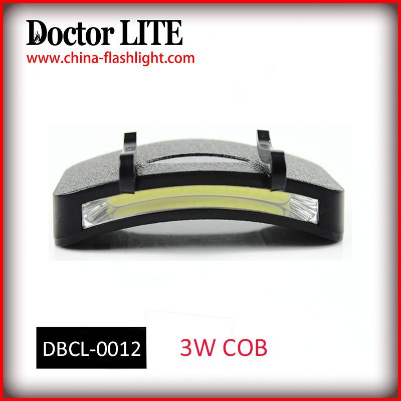 Hot selling High Power 3W COB Led Cap Light, Plastic led Cap Hat Light 3*AAA Battery Powered