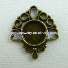 Fashion Peacock Shaped jewelry cabochons pendant settings more types and plated color