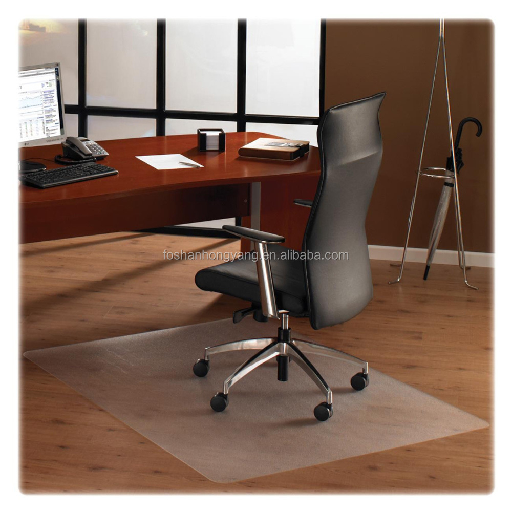 Transparent PVC Non Studded Chair Mat Office Floor Protection Mats
