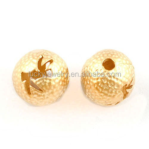 Fashion Brass Metal Slider Beads Black Beads For Gold Chain Designs Eco-friendly