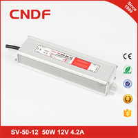 China supplier CNDF waterproof SV- 50-12 50w 12volt constant Voltage led driver IP67