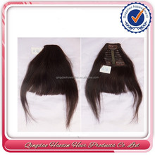 Hot fashion beauty natural hair remy clip in hair extension bangs human hair extension
