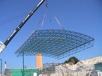 Swimming pool steel space frame roof system building