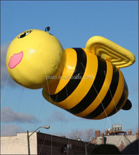 Advertising/decoration inflatable flying cartoon bee for sale