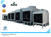 frp industrail cooling tower price with low noise multi fan