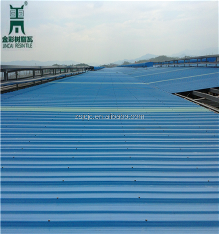 ASA Synthetic Resin Plastic Material PVC/UPVC/APVC Roofing Tiles