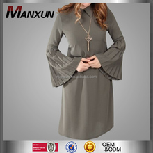 Bat Sleeves Sexy Muslim Baju Tunic Dubai Arab Latest Women Design Islamic Clothing Wholesale