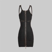 short black with beads famous brand pretty women cocktail dress