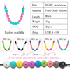 Boda Silicone Teether bead Necklace for baby teething toys