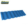 Hot sale blue glazed roof tile, stone covered roof sheet, roman stone coated metal roof tile in red