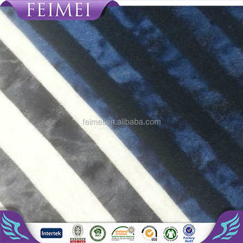 2016 Feimei Knitting 53% Rayon 47%Polyester Tie-dye Stripes Fabric Wholesale in China