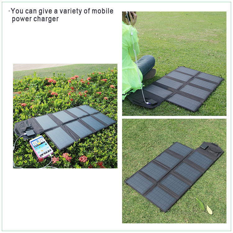 28W triple junction solar cell for camping and travelling