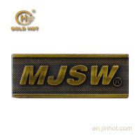 new product china supplier stamping embossed metal sticker labels for wood plate