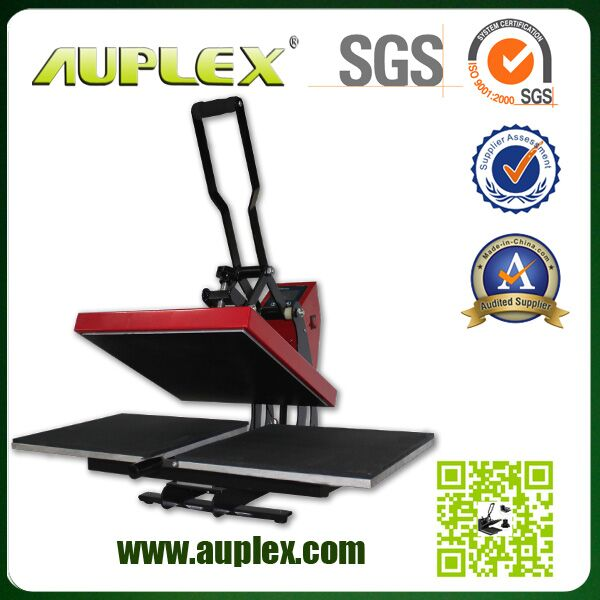 2016 Auplex new design cheaper price two stations manual heat press t shirts printing machine